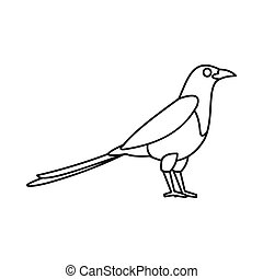 Bird magpie icon, outline style