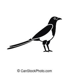 Bird magpie icon, simple style