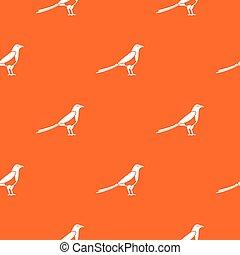 Bird magpie pattern seamless