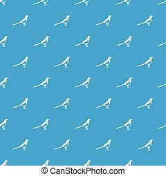 Bird magpie pattern seamless blue