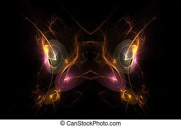 Bird Mask Abstract Fractal Design