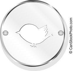 Bird metallic icon