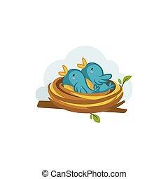 Bird Nest vector design