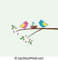Bird Nest - vector bird nest