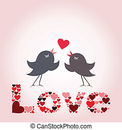 Bird of love8 - Love of two birdies. A vector illustration