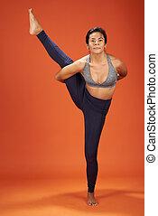 Bird of paradise yoga asana pose