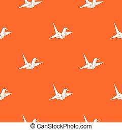 Bird origami pattern seamless