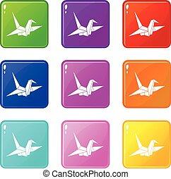 Bird origami set 9