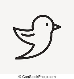 bird outline icon