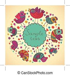 bird pattern vector illustration