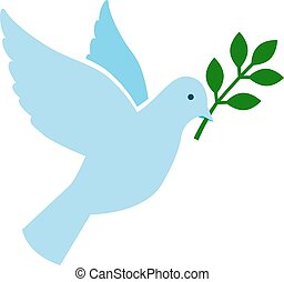 Bird peace symbol vector