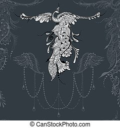 Bird Phoenix lace decor