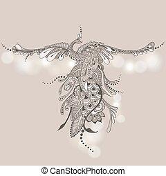 Bird Phoenix Mehndi