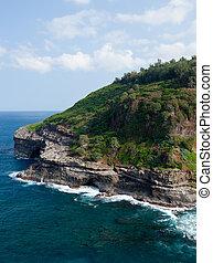 Bird sanctuary at Kilauea - Cliffs housing bird sanctuary at...