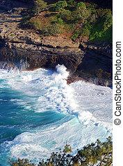 Bird Sanctuary on Kilauea Point on Island of Kauai - Waves ...