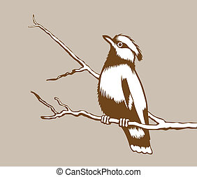 bird silhouette on brown background