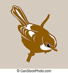 bird silhouette on brown background