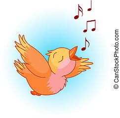 Bird song - Bird singing a song in the sky. Can be used for ...