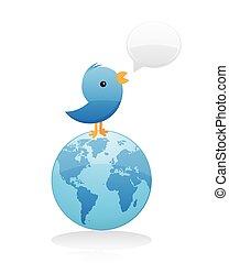 Bird Spreading News Worldwide