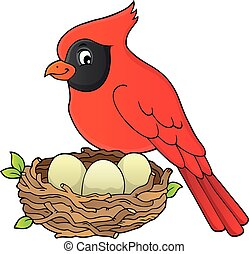 Bird topic image 8 - eps10 vector illustration.