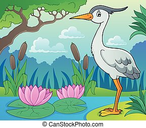 Bird topic image 9 - eps10 vector illustration.
