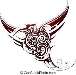 Bird tribal tattoo