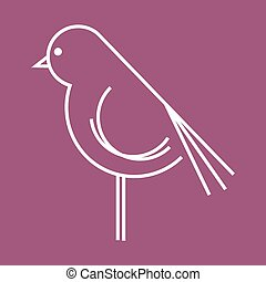 Bird vector icon