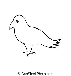 Bird vector outline icon