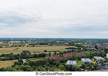bird view in laboe south over the country