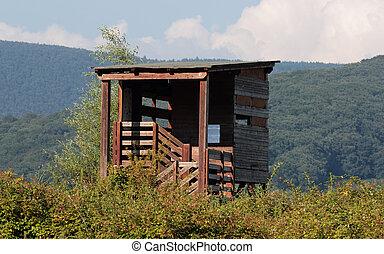 bird-watching hut