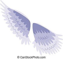 Bird wings icon, isometric style