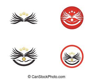 Bird wings icon logo design vector template