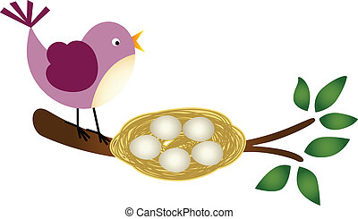 Bird with Eggs