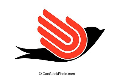 Bird with hand - freedom sign