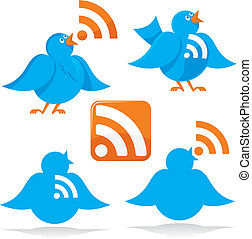 Bird with RSS vector