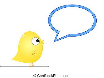 Bird with speech bubble