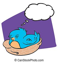 bird with thought bubble