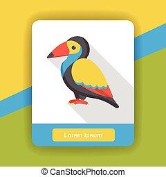 bird zoo animal flat icon