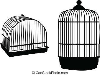 Birdcage silhouette - vector