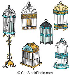 Birdcages Collection - for design or scrapbook - in vector