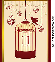 birdcages, e, uccelli