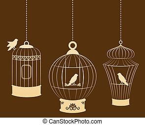 birdcages, madarak
