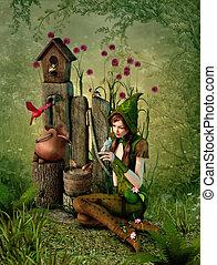 Birdhouse, 3d CG