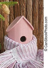 Birdhouse, autumn, winter, house insulation.
