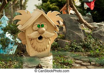 birdhouse, forma, aduelo
