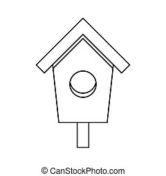 Birdhouse nesting box icon, outline style