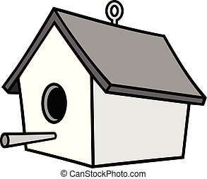 A cartoon illustration of a Birdhouse.