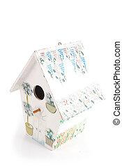 Birdhouse/Birdbox isolated on white background