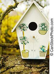 birdhouse/birdbox, rama de árbol