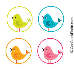 birdie design over white background vector illustration
